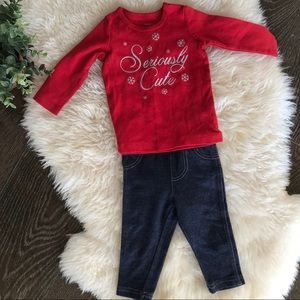 Other - 👶3 for $13👶 'Seriously cute' snow flake 2 pc set